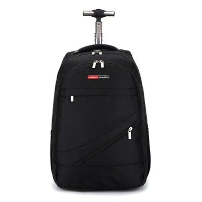 Mens Backpack Rolling Waterproof Daypack Carry On Luggage Womens Travel Suitcase