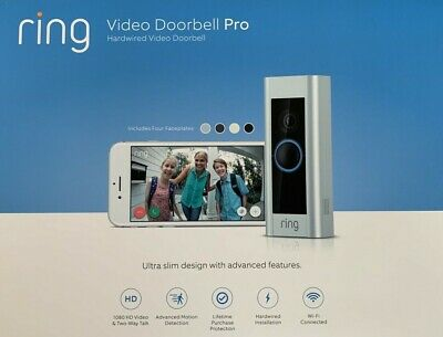 Ring Video Doorbell Pro 1080P Wi-Fi Wired Smart HD Camera, 100 % BRAND NEW