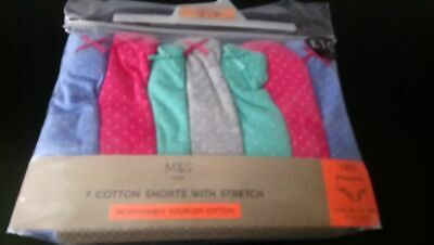 7  X Marks & Spencers Cotton Assorted Shorts  Bnwt.  Age 15-16   Rrp £11