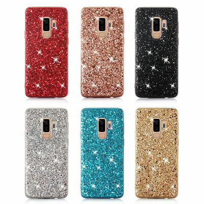 Bling Hybrid Liquid Glitter Rubber Phone Case Cover For Samsung Galaxy A40 S9/10