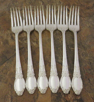 Oneida Park Lane Chatelaine Set of 6 Dinner Forks Wm A Rogers Silverplate Lot C