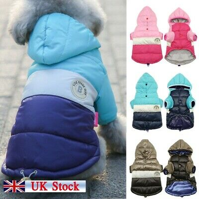 Winter Dog Coats Pet Cat Puppy Chihuahua Clothes Hoodie Warm For Small Dog S-XL