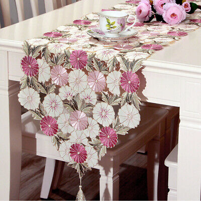 Tablecloth Table Runner Cover Mats Floral Embroidered Banquet Dining Table Decor