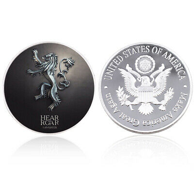 Game of Thrones Us Metal Coin Silver Challenge Coins for Home Decoration