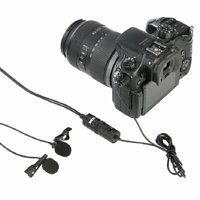 BOYA BY-M1DM Dual Lavalier Universal Microphone For Camera Camcorder Smartphone