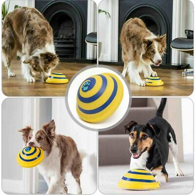 For Woof Glider Squeaky Dog Toy Sounding Disc Safe Soft Fun Dog Toy Training UK