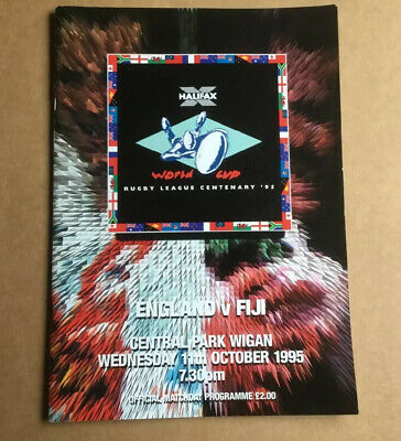 ENGLAND v FIJI Rugby League World Cup 1995 Match Day Programme.