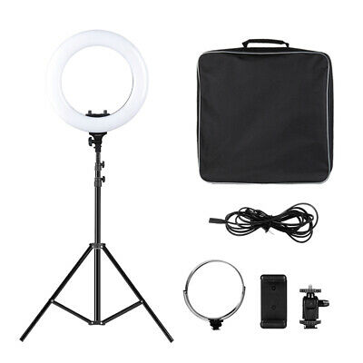 """Craphy 14"""" LED Ring Light Dimmable Continuous Lighting for Camera Photography"""