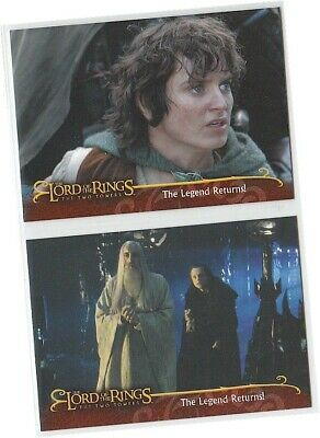 Lord of The Rings: The Two Towers - L1 & L2 Promo Card Set of 2 - UK Exclusive