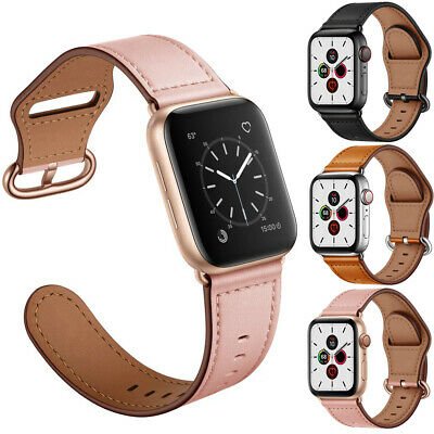 Genuine Leather Strap Watch Band 38/42/40/44mm For Apple iWatch Series 5 4 3 2 1