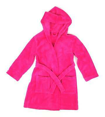 George Girls Pink Soft Fluffy Dressing Gown Age 5-6