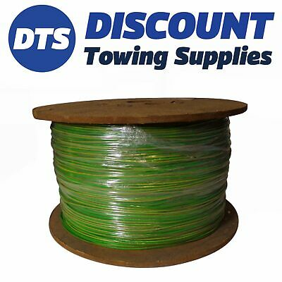 Clearance PVC AUTOMOTIVE AUTO MARINE CABLE 0.65mm x 1000 Metres GREEN/YELLOW