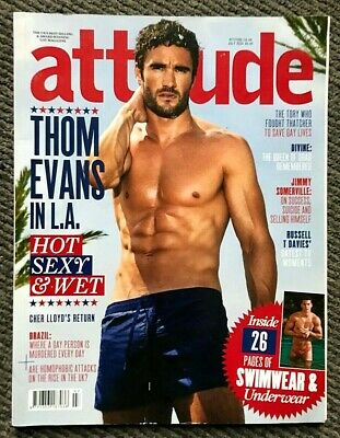 Rare Vintage Attitude Magazine July 2014 Gay Interest Thom Evans Rugby