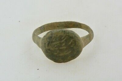 Roman Byzantine Bronze ring engravings 100- 800 AD US size 6 1/4