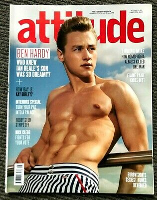 Very Rare Vintage Attitude Magazine Summer 2014 Gay Interest Ben Hardy
