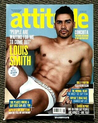 Very Rare Vintage Attitude Magazine June 2014 Gay Interest Louis Smith  Conchita