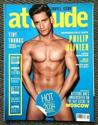 Very Rare Vintage Attitude Magazine February 2014 Gay Interest Philip Olivier