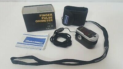 Deluxe SM-110 Two Way Display Finger Pulse Oximeter with Carry Case & Strap
