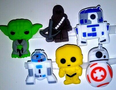 Star Wars 6 diff pc! Shoe Charms, for Crocs, Bracelets, Crafts & More!