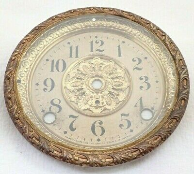 Antique Seth Thomas Adamantine Mantel Shelf Clock Dial Bezel Parts Repair