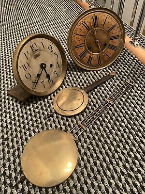 Vintage Project Wall Clock Parts Job Lot Clock Face Parts Spares Or Repairs