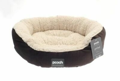 Luxury Sherpa Fleece Woven Durable Washable Round Pet Dog Puppy Bed Cat Bed