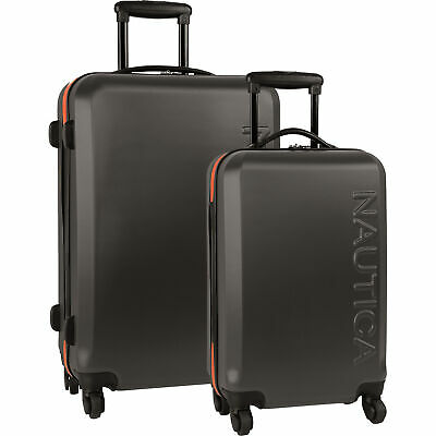 Nautica Ahoy Hardside Spinner 2 Piece Luggage Set Multiple Colors Available