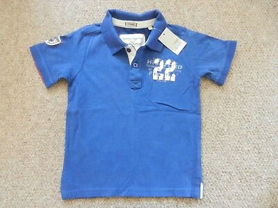 BNWT Next Boys Collared Polo Blue Smart T-Shirt Age 5 Years Lovely Thicker Feel