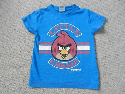 Next Boys Blue Angry Birds Red Bird Champ T-Shirt 1.5-2 Years 18-24 Months