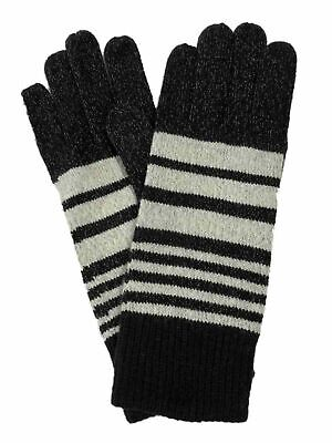 Isotoner Smart Touch Womens Black & Gray Touchscreen Text Gloves Smartouch