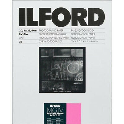 """Ilford Multigrade IV RC Deluxe Glossy Paper 8x10"""" – 25 Sheets"""