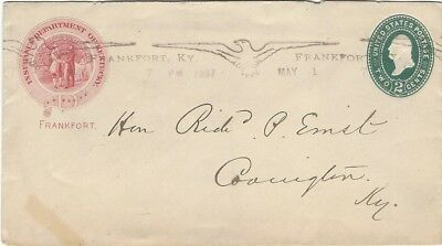 SCARCE 1897 Frankfort KY Spread Eagle Milam & Holmes repeater machine cancel