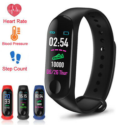 Smart Watch Wristband Blood Pressure Heart Rate Monitor Bracelet For iOS Android
