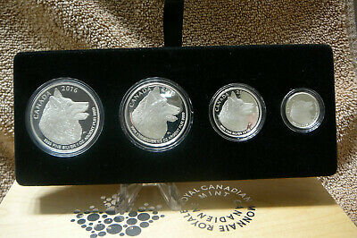 "2016 Silver Maple leaves 4 coin fractional set "" Wolf """