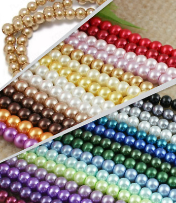 new Round color Czech Glass Imitation pearls Loose Beads diy jewelry Making