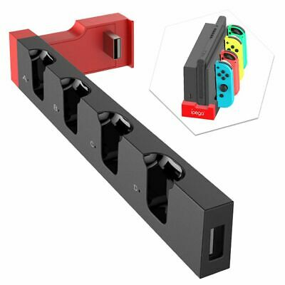 For Nintendo Switch Joy-Con 4 Slots Controller Grip Charger Charging Dock Stand