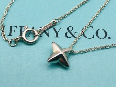 "Authentic Tiffany & Co Necklace Elsa Peretti Sirius Star Sterling Silver 16"" N36"
