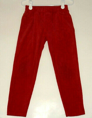Girl's Hanna Andersson Red Velour Ribbed Leggings HOLIDAY Size 110/5