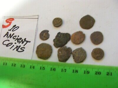 Lot of 10  worn mixed conditions Ancient  mostly Roman Coins(S).