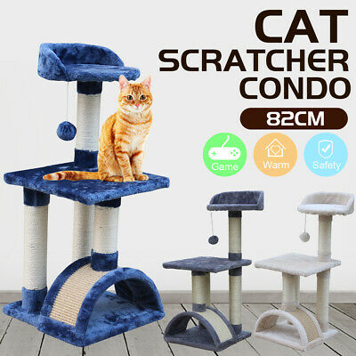 Multi Level Cat Tree Scratching Post Scratcher Pole Gym Toy House Furniture 82CM