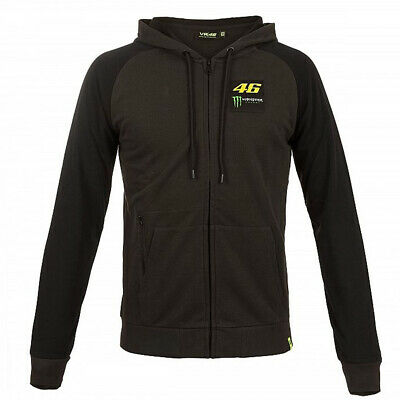 Valentino Rossi Hoodie VR46 MotoGP Monster Sponser Dual Dark Grey Official