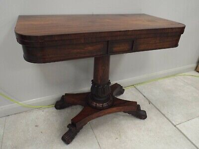 Antique Regency Period Rosewood Card Table