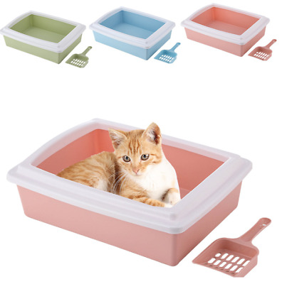 Pet Litter Tray Scoopless Sifting Cat Dog Rabbit Toilet Framed Box Home