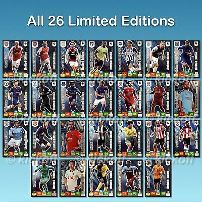 Panini Adrenalyn XL 2019-2020. Premier League LIMITED EDITIONS. All 26 available