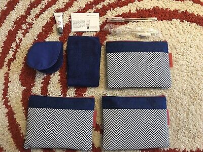 New Style British Airways BA World Traveller Plus Amenity Amenities Kit (3 Sets)