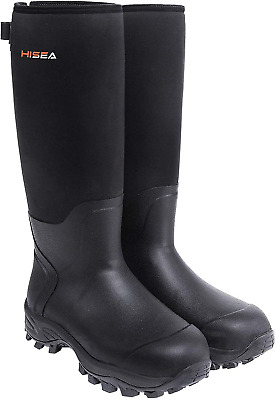 HISEA Hunting Boots for Men Waterproof Mens and Womens Rain Boots Neoprene Shoes
