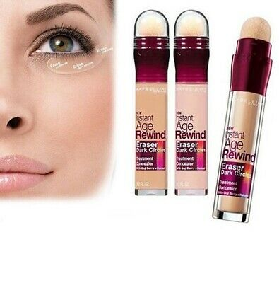Maybelline Correcteur Anti Cernes Eraser Antiage Pinceau Mousse N° Nude Nf