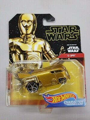 """HW, Star Wars, Character Car, """"C-3PO"""", Rise of Skywalker, New, ships/box/bubble"""