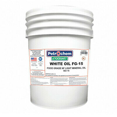 Petrochem WO FG-15-005 Food Grade NF Light Mineral Hydraulic Oil ISO 15 5-Gallon