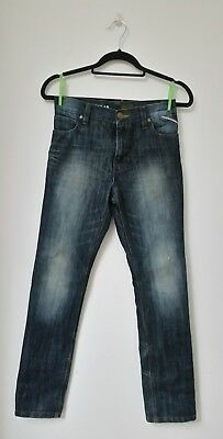 next boys jeans age 11 years kids straight leg faded casual pants blue